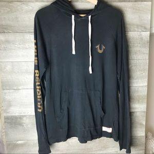 True Religion men's logo pullover sweater hoodie